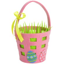 DII Felt Easter Basket in Pink - Closeouts