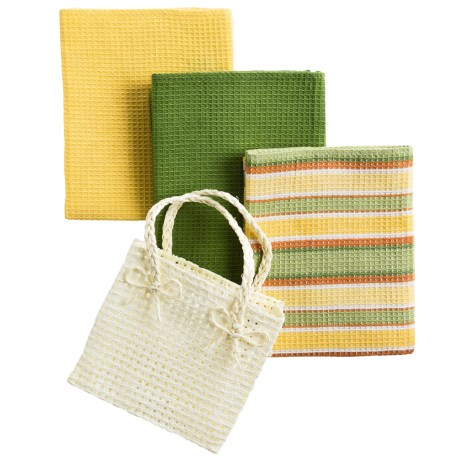 DII Gift Kitchen Towel Gift Bag - 3-Piece in Citrus