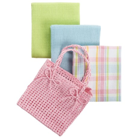 DII Gift Kitchen Towel Gift Bag - 3-Piece in Pastel Pink