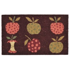 "DII Good Apples Coir Door Mat - 18x30"" in Apples - Closeouts"