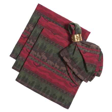 DII Great Outdoors Jacquard Napkins - Set of 4 in Wilderness - Closeouts