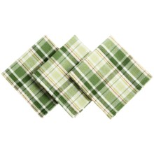 DII Heavyweight Essentials Basket-Weave Dishcloths - Set of 3 in Shamrock Plaid - Closeouts