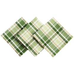 DII Heavyweight Essentials Basket-Weave Dishcloths - Set of 3 in Shamrock Plaid