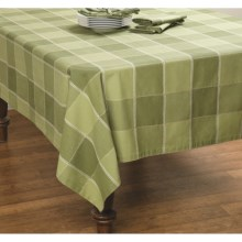 "DII Herb Garden Check Tablecloth - 52x52"" in Sage - Closeouts"