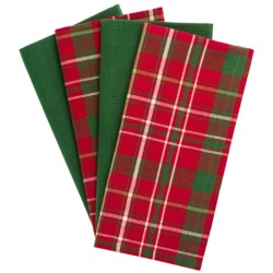 DII Holiday Plaid Cloth Napkins - Set of 4 in See Photo