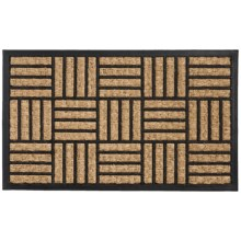 "DII Home Essentials Everyday Rubber and Coir Door Mat - 18x30"" in Cross Rib - Closeouts"