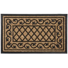 """DII Home Essentials Everyday Rubber and Coir Door Mat - 18x30"""" in Ivy - Closeouts"""