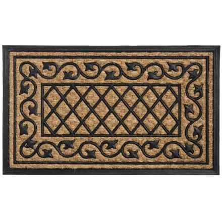 "DII Home Essentials Everyday Rubber and Coir Door Mat - 18x30"" in Ivy - Closeouts"