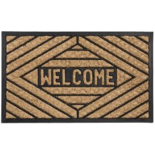"DII Home Essentials Everyday Rubber and Coir Door Mat - 18x30"" in Welcome - Closeouts"