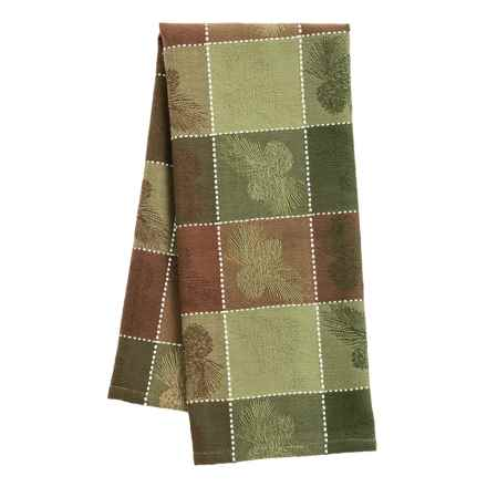 DII Jacquard Dish Towel in Pinecone Check - Closeouts