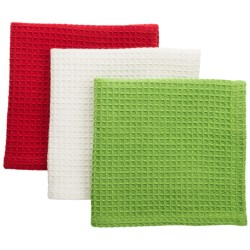 DII Juicy Watermelon Dishcloths - Waffle Weave, Set of 3 in Multi