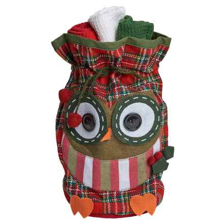 DII Kitchen Linen Dish Towel Gift Set - 3-Pack in Owl - Closeouts