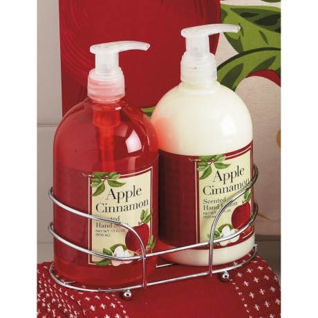 DII Kitchen Soap and Lotion Caddy Set in Apple Cinnamon