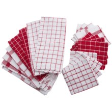 DII Kitchen Towel and Dishcloth Set - 20-Piece in Red - Closeouts
