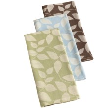 DII Leaf Jacquard Dish Towels - Organic Cotton, Set of 3 in Leaf - Closeouts