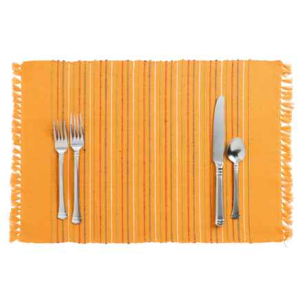 DII Listra Fringe Placemat in Golden Glow - Closeouts