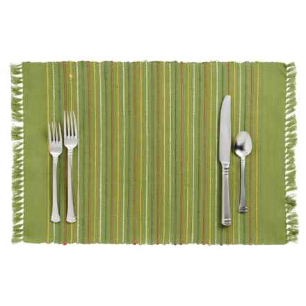 DII Listra Fringe Placemat in Olive Green - Closeouts