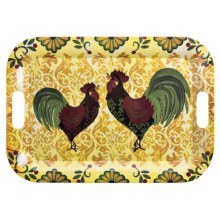 "DII Melamine Serving Tray - 18.5x13"" in Rooster - Closeouts"