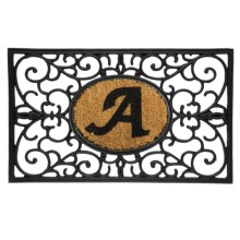 "DII Monogram Rubber & Coir Rectangular Doormat - 30x18"" in A - Overstock"