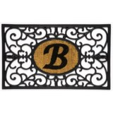 DII Monogram Rubber & Coir Rectangular Doormat - 30x18""