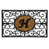 """DII Monogram Rubber & Coir Rectangular Doormat - 30x18"""""""