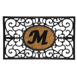 "DII Monogram Rubber & Coir Rectangular Doormat - 30x18"" in S"