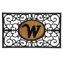 "DII Monogram Rubber & Coir Rectangular Doormat - 30x18"" in W - Overstock"