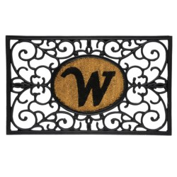"DII Monogram Rubber & Coir Rectangular Doormat - 30x18"" in M"