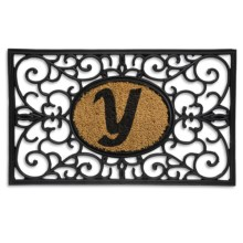 "DII Monogram Rubber & Coir Rectangular Doormat - 30x18"" in Y - Overstock"