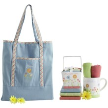 DII Mothers' Day Gift Set - Mug, Dish Towels, Dish Cloths, Tote Bag in See Photo - Closeouts