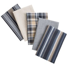 "DII Oversized Dish Towels - 18x28"", Set of 5 in Indigo - Closeouts"