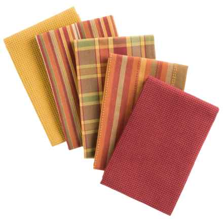 "DII Oversized Dish Towels - 18x28"", Set of 5 in Spice - Closeouts"