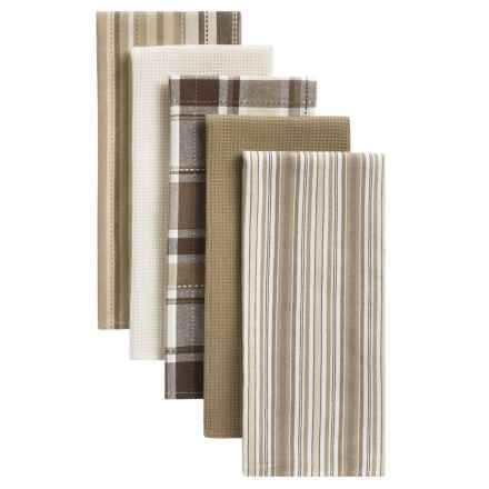 "DII Oversized Dish Towels - 18x28"", Set of 5 in Taupe - Closeouts"