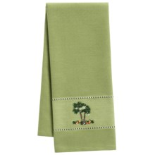 DII Palm Paradise Embroidered Dish Towel in Palm Tree - Closeouts