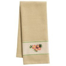 DII Palm Paradise Embroidered Dish Towel in Plumeria - Closeouts