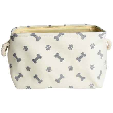 DII Paw & Bone Pet Toy Bin - Medium in Gray - Closeouts