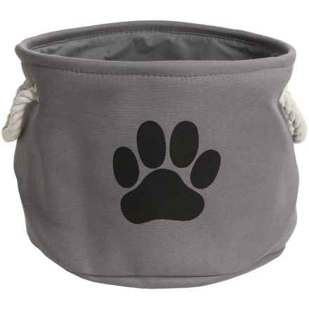 DII Paw Print Round Toy Bin - Medium in Grey - Closeouts