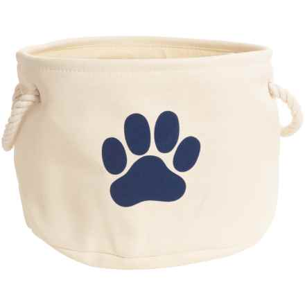 DII Paw Print Round Toy Bin - Medium in Off White - Closeouts