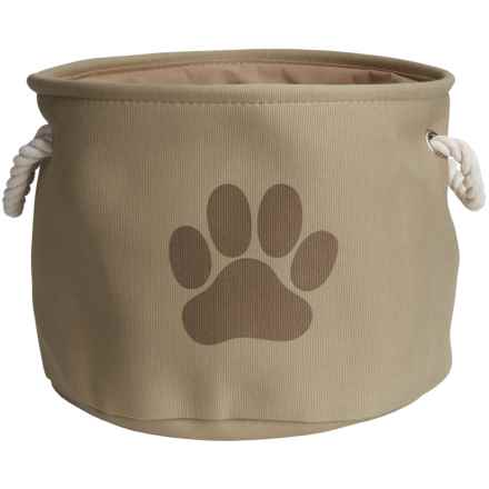 DII Paw Print Round Toy Bin - Medium in Taupe - Closeouts