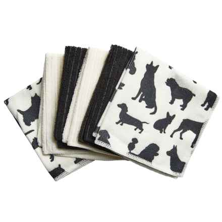 DII Pet Microfiber Cloth - Set of 6 in Silhouette Dogs - Closeouts