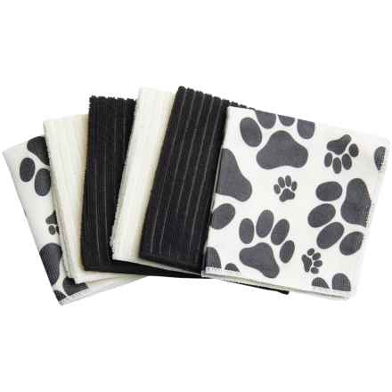 DII Pet Microfiber Cloth - Set of 6 in Silhouette Paws - Closeouts