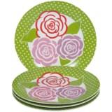DII Porcelain Dessert Plates in Hat Box - Set of 4