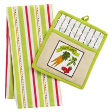 DII Pot Holder and Dish Towel Gift Set in Farmers Market - Closeouts