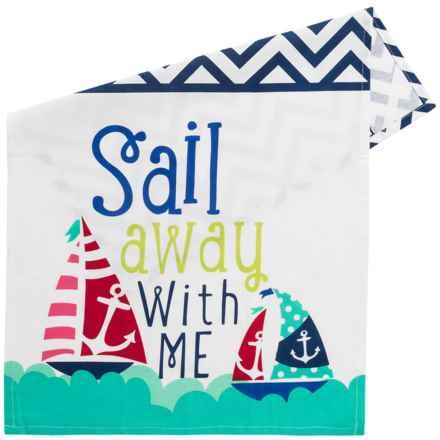 DII Printed Coastal Dish Towel - Cotton in Sail Away - Closeouts