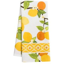 DII Printed Cotton Dish Towel in Citrus Blossom - Closeouts