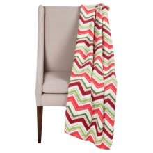 "DII Printed Fleece Throw Blanket - 50x60"" in Cheery Chevron - Closeouts"