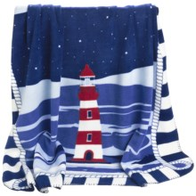 "DII Printed Fleece Throw Blanket - 50x60"" in Lighthouse - Closeouts"
