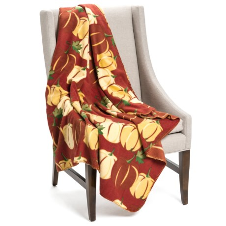 "DII Printed Fleece Throw Blanket - 50x60"" in Pumpkins"