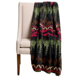 "DII Printed Fleece Throw Blanket - 50x60"" in Wilderness Stripe"