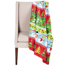 "DII Printed Fleece Throw Blanket - 50x60"" in Winter Wonderland - Closeouts"
